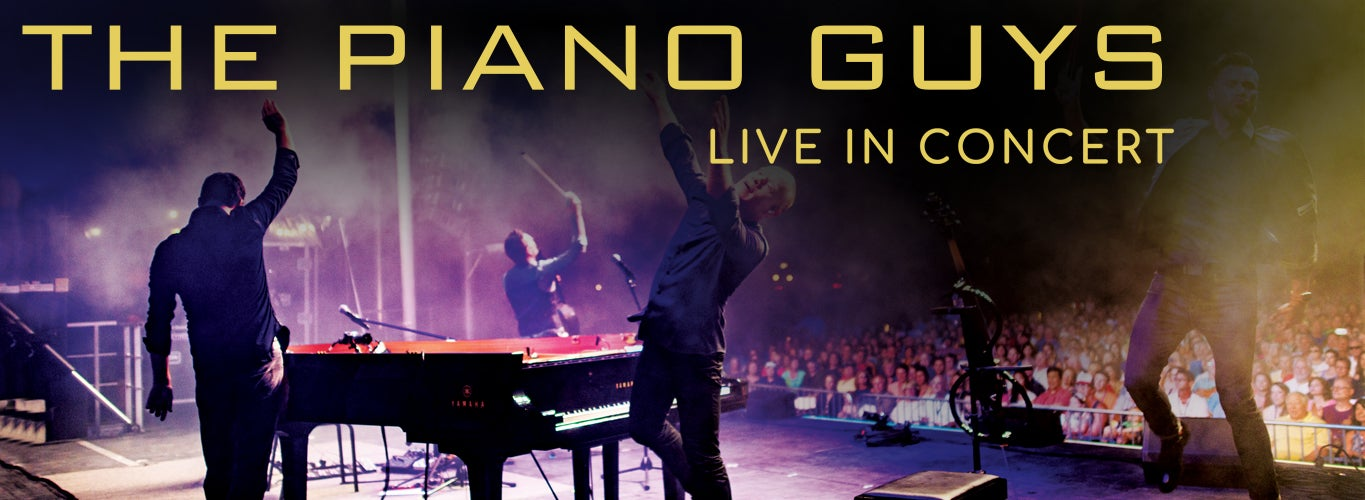 The Piano Guys: Live in Concert. The Piano Guys perform on stage in front of an audience.