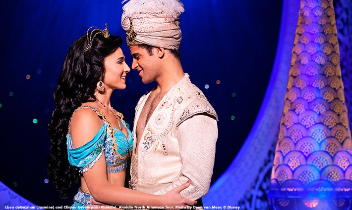 Aladdin and Princess Jasmine from Disney's 'Aladdin.'