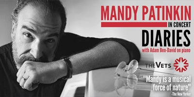 More Info for Mandy Patinkin in Concert: DIARIES, with Adam Ben-David on piano