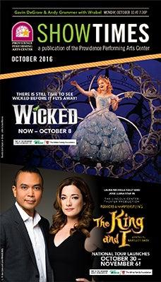 October 2016 Showtimes